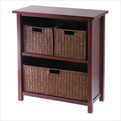 (Winsome Milan 4 Piece Shelf and)