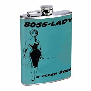 Boss Lady Vintage Vixen Woman Flask 8oz Stainless Steel D-011