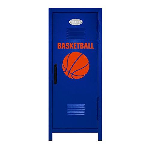 Blue/Orange Basketball Player Mini Locker Gift - 10.75