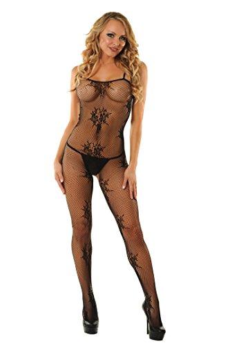 Velvet Kitten Crotchless Fishnet Bodystocking - One Size #3095