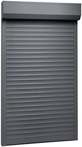 vidaXL - Persiana enrollable de aluminio de 110 x 220 cm, ideal para aislamiento térmico y acústico, color antracita: Amazon.es: Bricolaje y herramientas