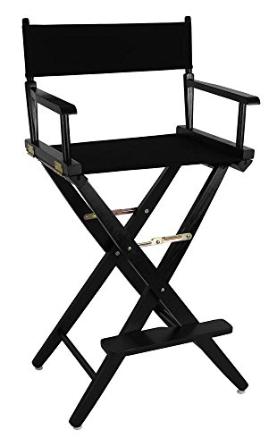 Black-Frame-Directors-Chair-with-Black-Canvas