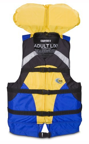 MTI Adventurewear Canyon V Rafting PFD (青/黄 Large/X-Large) [並行輸入品]