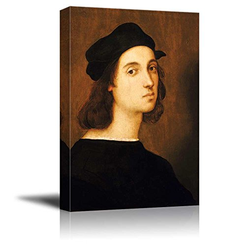 (wall26 - Self-Portrait by Raphael - Canvas Print Wall Art Famous Oil Painting Reproduction - 16