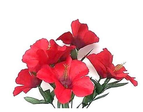 Silk Hibiscus Flowers (12