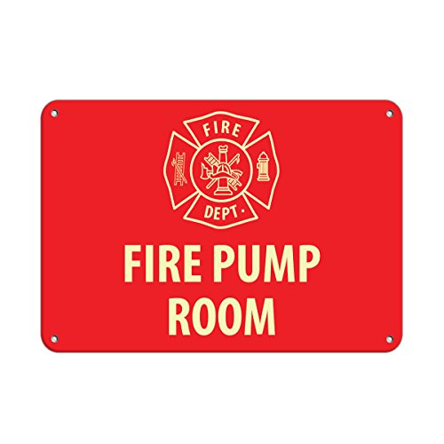 Pump Sign - Fire Pump Room Hazard Sign Fire Sign Aluminum METAL Sign 10 in x 14 in