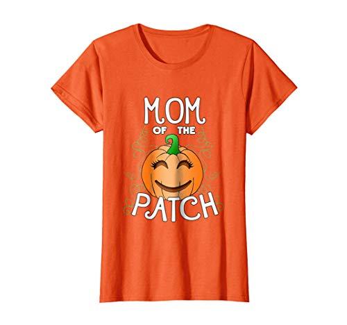 Womens Halloween Pumpkin Mom of the Patch T Shirt Medium -
