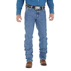 Wrangler Men's Premium Performance Cowboy Cut Regular Fit Jean.  A classic cowboy cut with premium performance features, these jeans are built for comfort. Made with breathable cotton denim and a comfort waistband that moves with you. FEATURE...