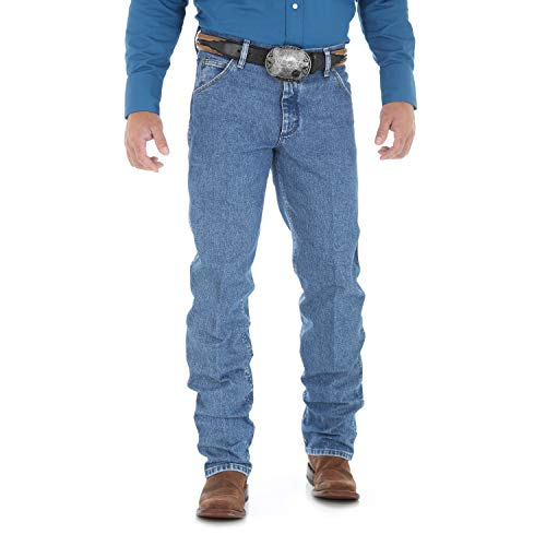 Wrangler Men's Premium Performance Cowboy Cut Regular Fit Jean, Stonewash, 32W x - Jeans Cut Cowboy Wrangler