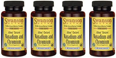 Swanson Albion Chelated Vanadium and Chromium 60 Veg Capsules