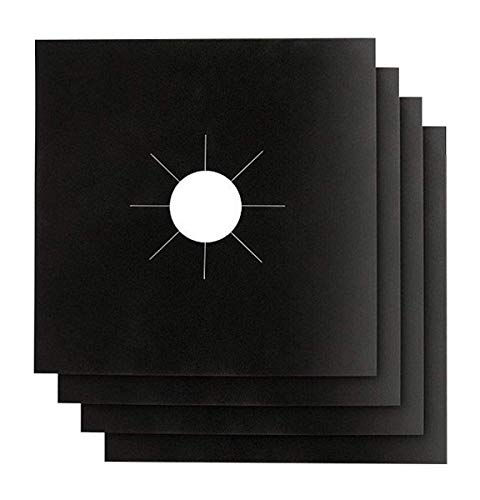 Gas Stove Burner Ranges Covers 4PACK - Stove Top Liners - Gas Range Protector - Stove Burner Covers - Double Thickness 0.2mm - Reusable & Dishwasher Safe. SET OF 5!