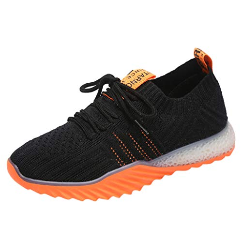 Shusuen Women's Running Lightweight Breathable Casual Sports Shoes Fashion Sneakers Walking Shoes Orange ()