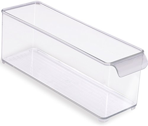 Utopia Home - Refrigerator / Pantry / Freezer & Storage Cabinet Organizer Bin - 14-Inch by 4-Inch by 4-Inch - Clear and Transparent