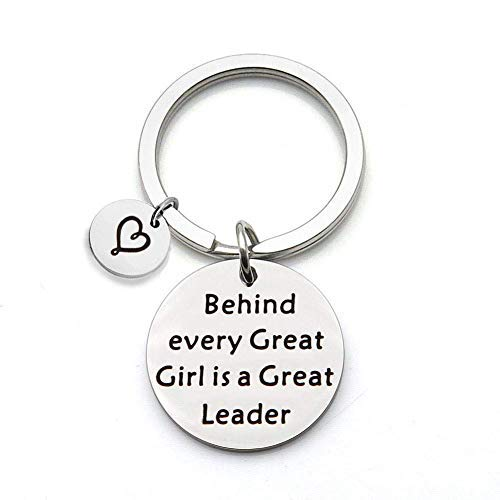 SEIRAA Girl Scout Gift Behind Every Good Girl Scout is A Great Leader Keychain Gift for Scout Leader Troop Leader Jewelry (Keychain)
