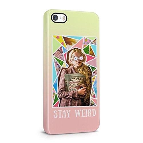 Harry Potter Luna Lovegood estancia Weird iPhone 5/5S Plástico Duro Teléfono cubierta de la caja