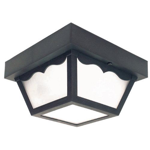 Sunlite 47234-SU DOD/CC/BK/FR/MED Decorative Outdoor Century Collection Polycarbonate Fixture, Black Finish, Frosted Lens (Collection Sunlites)