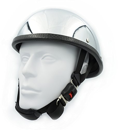 Chrome Novelty Motorcycle Helmet - 6
