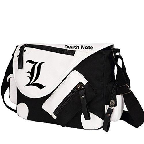 YOYOSHome Death Note Anime L Cosplay Backpack Messenger Bag Shoulder Bag (Black)