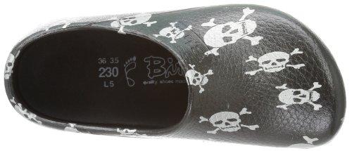 Birki's Unisex Adults' PROFI AS Clogs And Mules Black - Schwarz (Black Skull) 9INjo