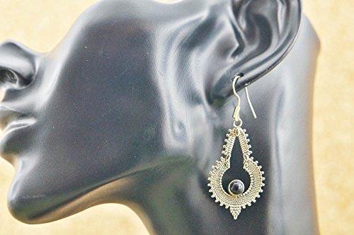Boucles d'oreilles liaton avec Onyx 27 mm x 56 mm
