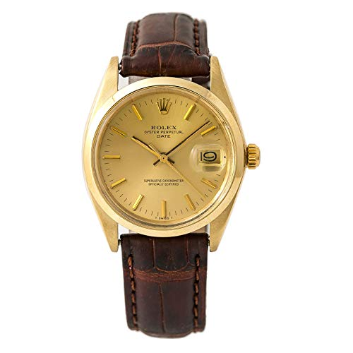 Rolex Date Automatic-self-Wind Male Watch 1500 (Certified Pre-Owned) - Rolex Leather Band