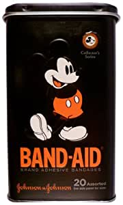 Band-Aid Brand Adhesive Bandages, Mickey Mouse Limited Edition Collector's Series Tin, Assorted Sizes, 20 Count