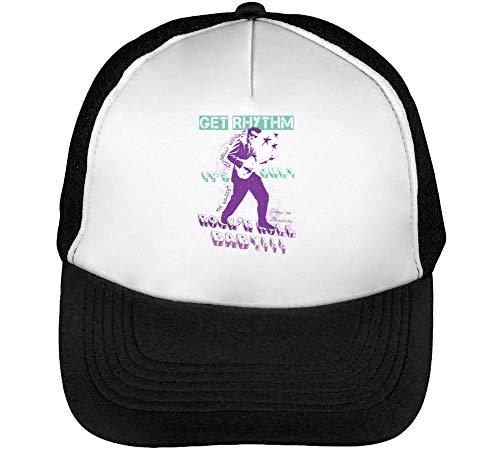 Get Rhythm Gorras Hombre Snapback Beisbol Negro Blanco