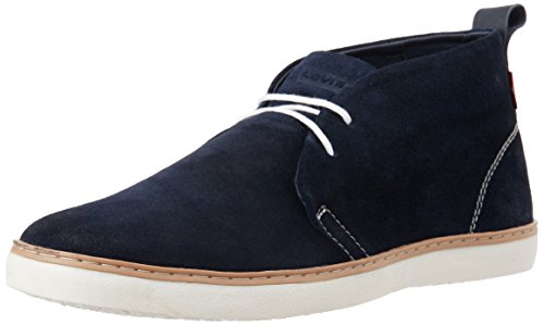 Levi's Men's Chukaas Navy Leather Sneakers - 8 UK/India (42...