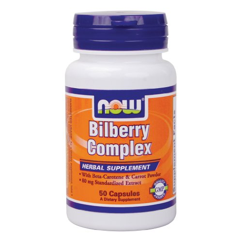 Now Foods Bilberry Complex 80mg - 50 Caps 4 ()