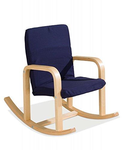 Kinder-Schaukelstuhl Kindersessel blau Bernie