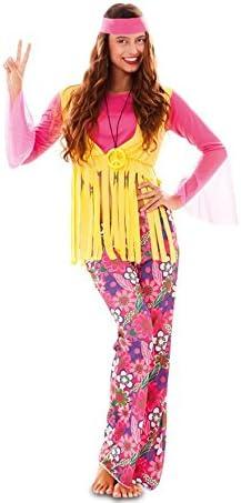 EUROCARNAVALES Disfraz de Hippie Rosa para Mujer: Amazon.es ...