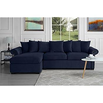 Amazon.com: Sofá moderno de tela seccional, sofá en forma de ...