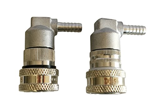 Ball Lock Disconnects Stainless Steel Barb Set (Liquid and Gas) For Corny and Cornelius Kegs by KING
