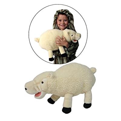 Making Believe Nativity Sheep Stuffed Toy Plush Hand Puppet: Toys & Games