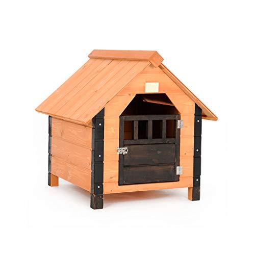 LF Cama para Mascotas casa de Perro Interior Gato Arena Madera Cuatro Estaciones Universal Villa al Aire Libre Suministros para Mascotas (Tamaño : S): ...
