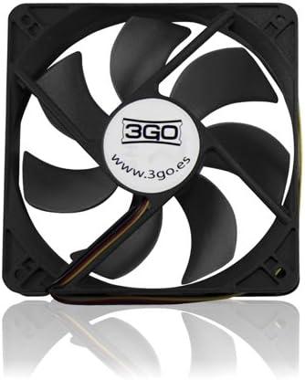 3GO FAN12BK Carcasa del Ordenador Ventilador - Ventilador de PC ...