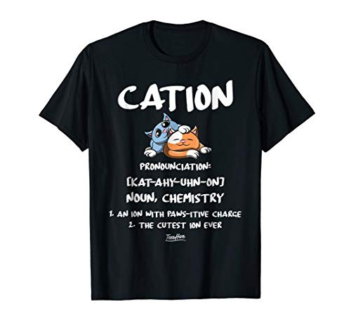 Chemistry Cation Science Cat Graphic Funny Cat Lover Shirt ()