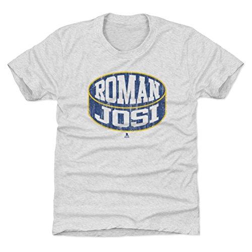 500 LEVEL Roman Josi Nashville Predators Youth Shirt (Kids X-Small (4-5Y), Tri Ash) - Roman Josi Puck B