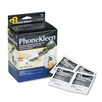 Read Right® PhoneKleen® ワイプクリーナー、PHONEKLEEN 72/BX(5パック) B0032JUXM6