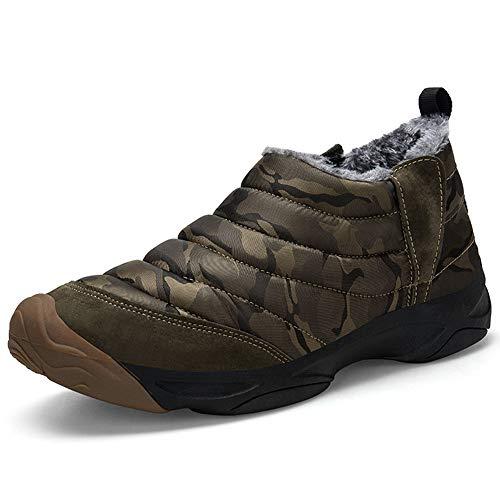 Homme Hiver Boots Bottes Imperméable Snow verte De Neige Jianye Femme Armée wtZqn8