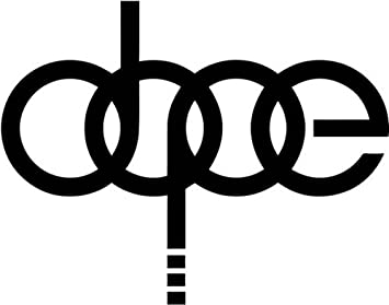 Amazoncom Euro Dope Audi Rings Vinyl Decal Sticker Car Window - Cool vinyl decal stickers