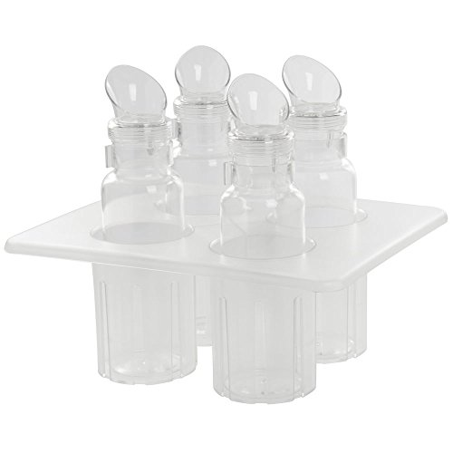 "Cal-Mil 3300-SET Salad Dressing Caddy Complete Set, 5"" Height, 13"" Width, 10.75"" Length, Clear"