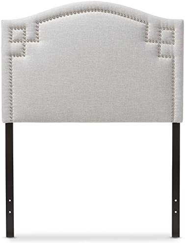 Baxton Studio Aubrey Modern and Contemporary Fabric Upholstered Headboard Beige/King