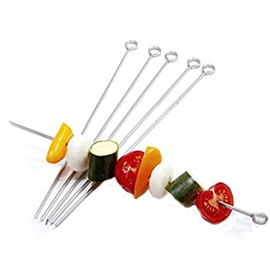 Norpro 12  S/S Skewers 6 Pc Bbq Grilling Camping Marshmallow Hot Dog Shish Kabob