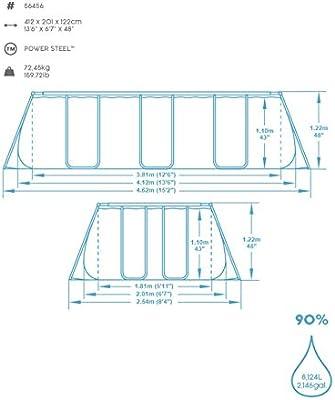 Bestway Power Steel Rectangular Pool Set Juego de Piscinas con ...