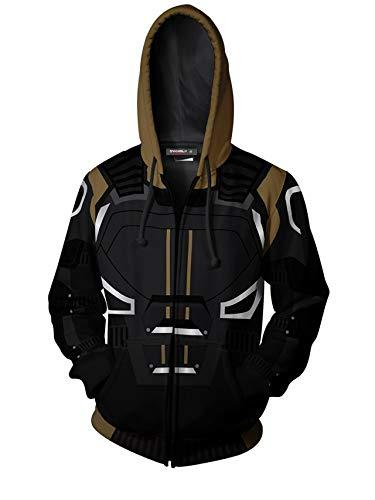 Stylish X-Men: Dark Phoenix - Jean Grey Cosplay Zip Up Hoodie Jacket