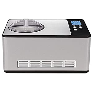 Whynter Stainless Steel ICM-200LS Automatic Ice Cream Maker 2 Quart Capacity, Built-in Compressor, no pre-Freezing, LCD Digital Display, Timer, 2.1