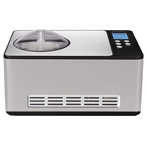 Whynter ICM-200LS Stainless Steel Ice Cream Maker, 2.1-Quart, Silver (Frozen Custard Machine)