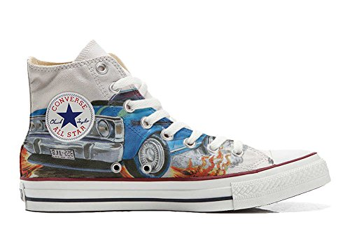 Converse Customized Adulte - chaussures coutume (produit artisanal) avec Chevrolet