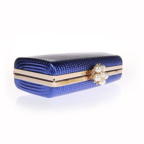 HIDOUYAL - Cartera de mano para mujer Azul azul